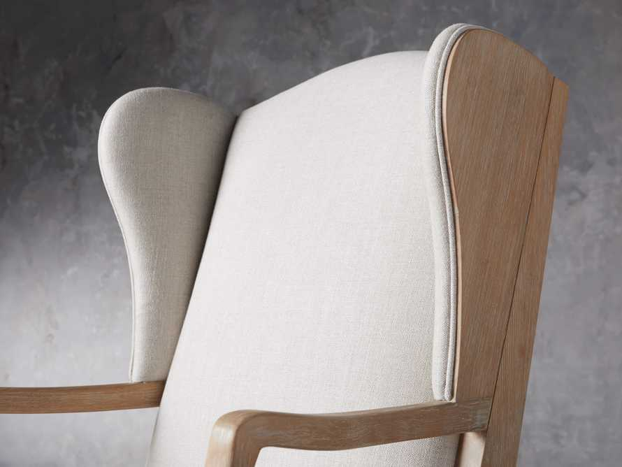 "Lorraine Upholstered 30"" Chair in Oatmeal, slide 7 of 9"