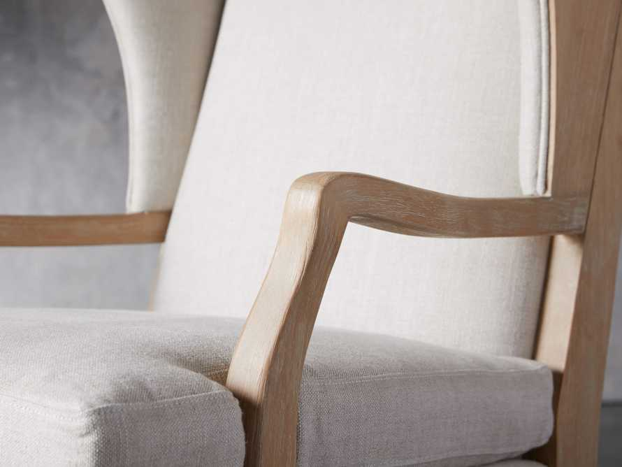 "Lorraine Upholstered 30"" Chair in Oatmeal, slide 5 of 9"