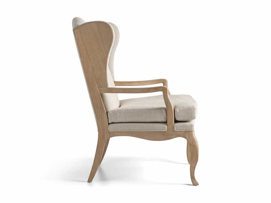 "Lorraine Upholstered 30"" Chair in Oatmeal, slide 9 of 9"