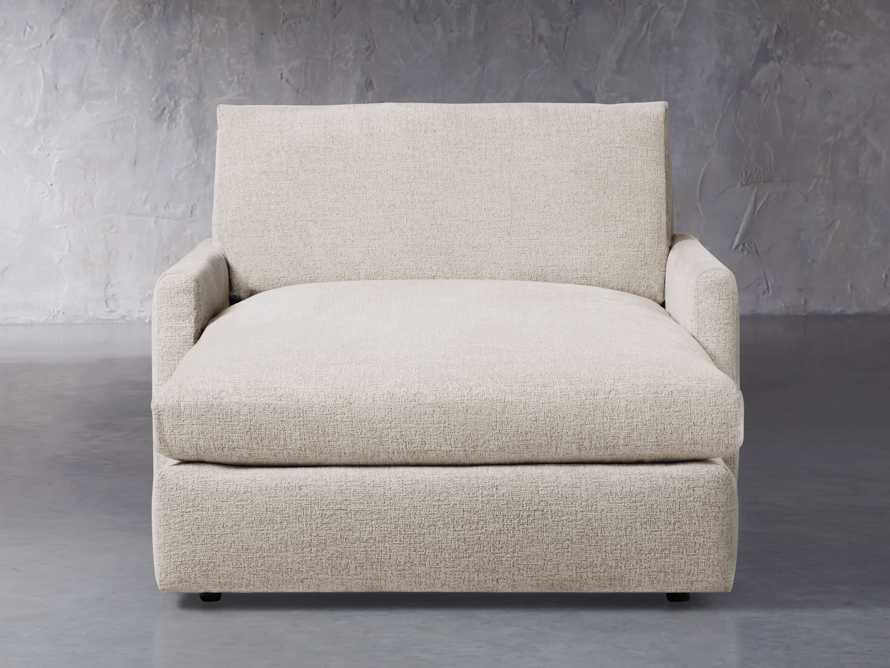 """Kipton Upholstered 51"""" Two Arm Chaise, slide 2 of 7"""