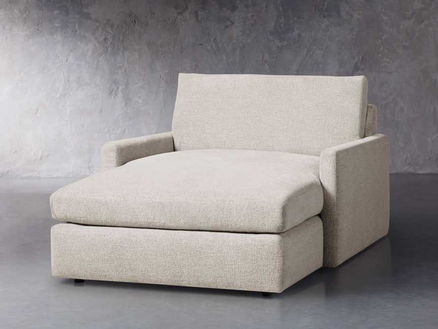 "Kipton Upholstered 51"" Two Arm Chaise, slide 2 of 5"