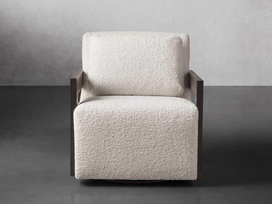 """Harrison Upholstered 30"""" Swivel Chair, slide 2 of 8"""