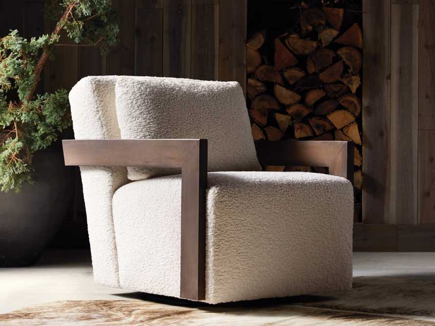 """Harrison Upholstered 30"""" Swivel Chair, slide 1 of 8"""