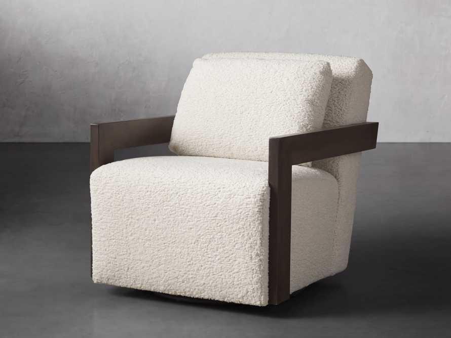 """Harrison Upholstered 30"""" Swivel Chair, slide 3 of 8"""
