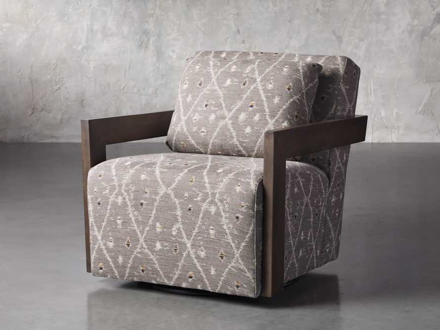 "Harrison Upholstered 30"" Swivel Chair, slide 2 of 8"