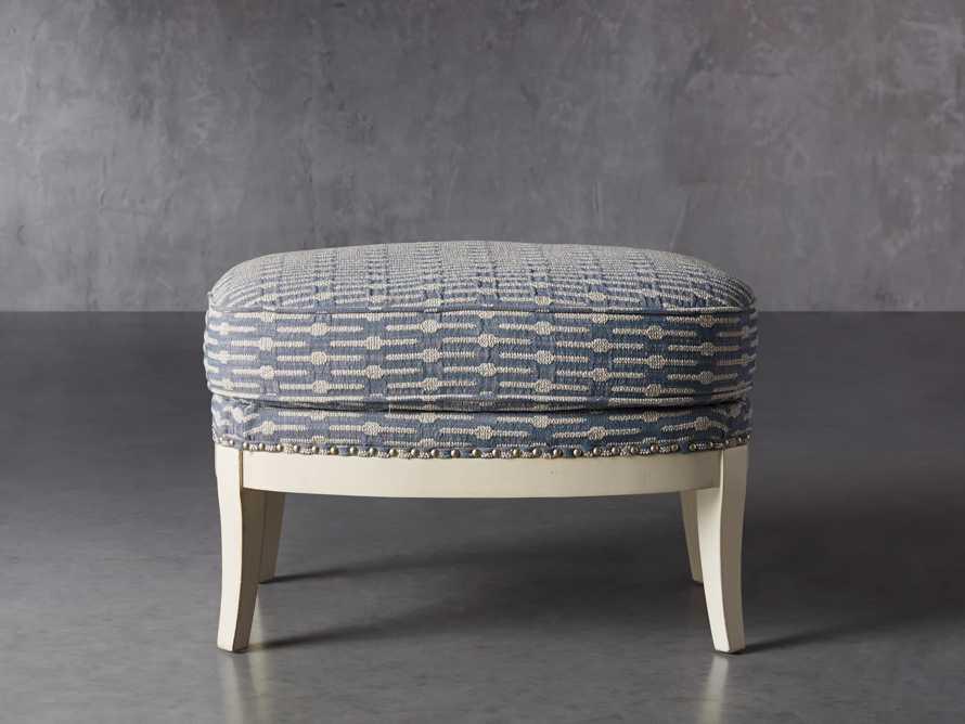"Portsmouth Upholstered 29"" Ottoman in Dusty Blue Geo, slide 1 of 7"