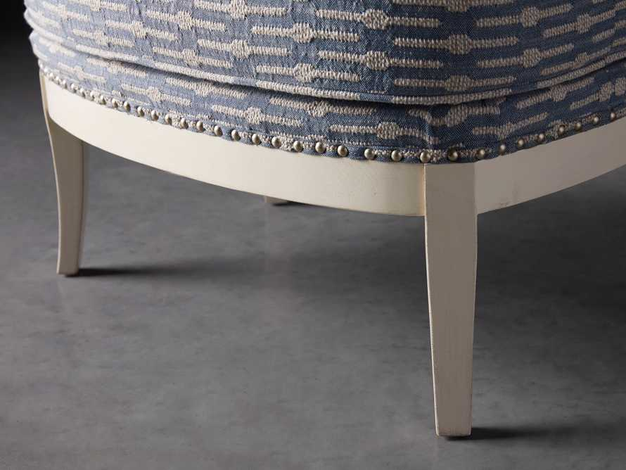 "Portsmouth Upholstered 29"" Ottoman in Dusty Blue Geo, slide 3 of 7"