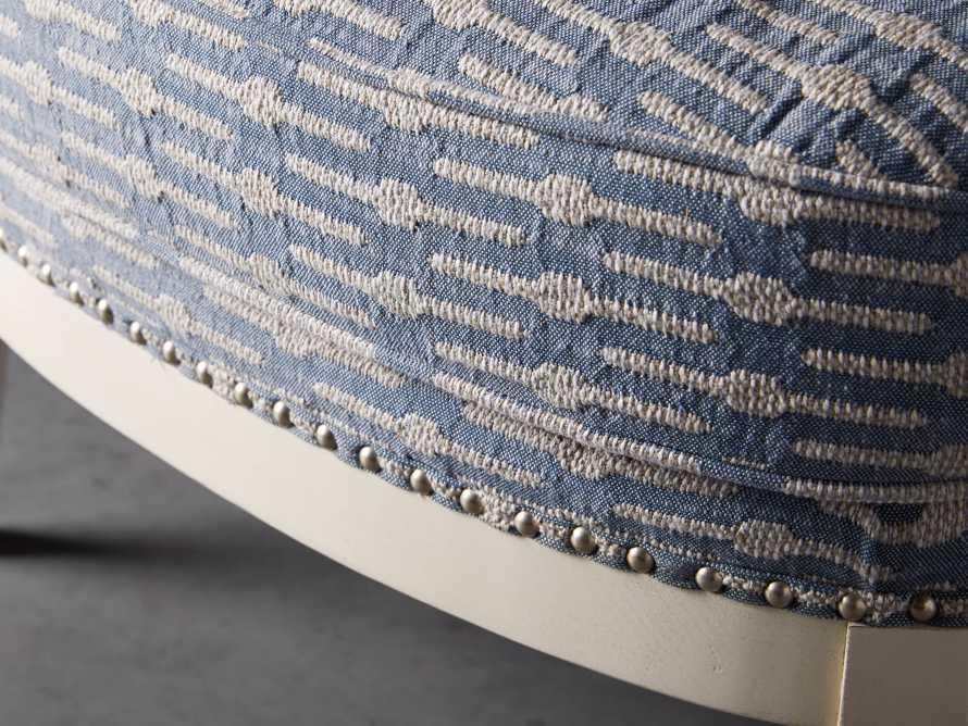 "Portsmouth Upholstered 29"" Ottoman in Dusty Blue Geo, slide 4 of 7"