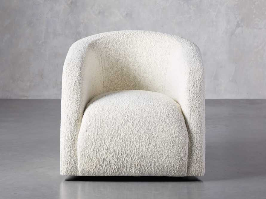 "Merrill Upholstered 31"" Swivel Chair in Cuddle Natural, slide 2 of 10"