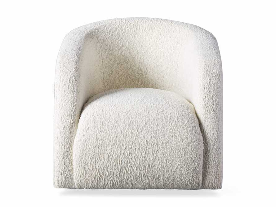 "Merrill Upholstered 31"" Swivel Chair in Cuddle Natural, slide 9 of 10"