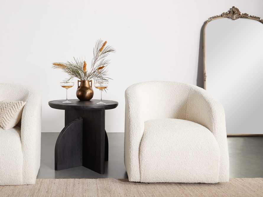 "Merrill Upholstered 31"" Swivel Chair in Cuddle Natural, slide 7 of 15"