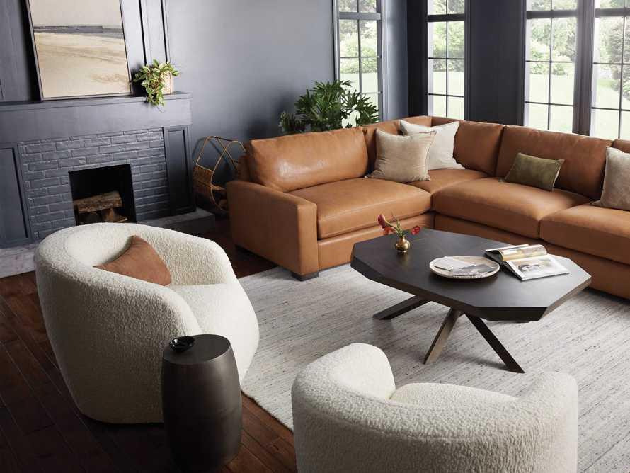 "Merrill Upholstered 31"" Swivel Chair in Cuddle Natural, slide 9 of 12"