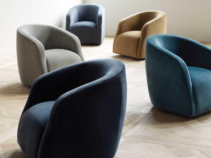 "Merrill Upholstered 31"" Swivel Chair in Cuddle Natural, slide 1 of 12"
