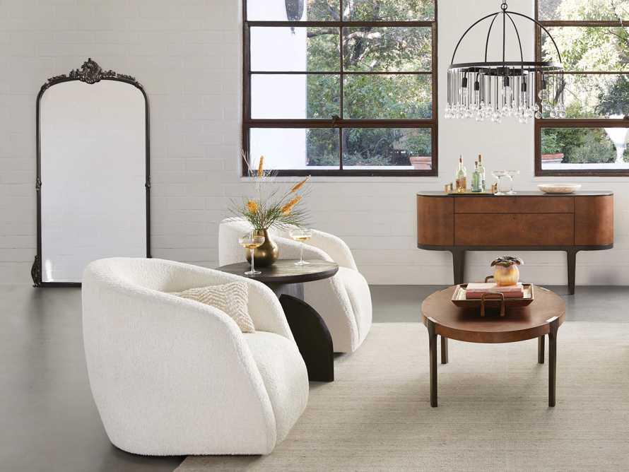 "Merrill Upholstered 31"" Swivel Chair in Cuddle Natural, slide 9 of 15"