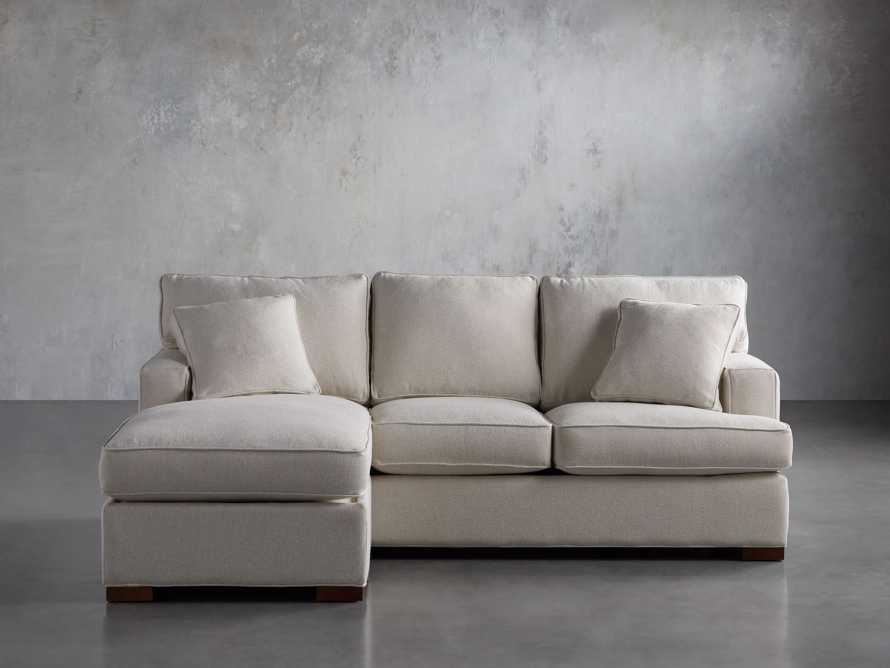 """Dune Upholstered 88"""" Sleeper Sofa with Chaise, slide 1 of 15"""