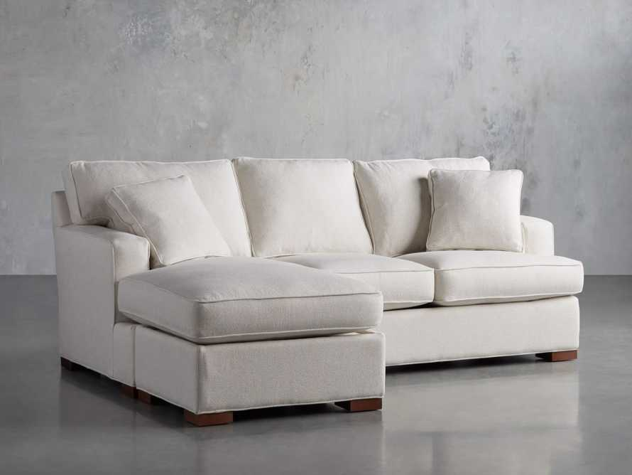 """Dune Upholstered 88"""" Sleeper Sofa with Chaise, slide 3 of 15"""