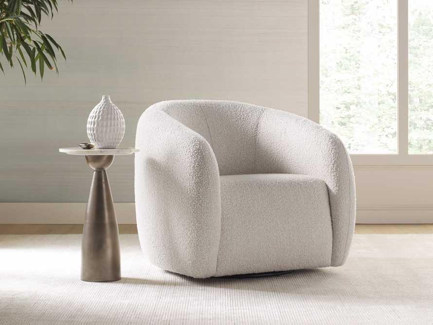 """Fresno Upholstered 36"""" Swivel Chair, slide 1 of 12"""