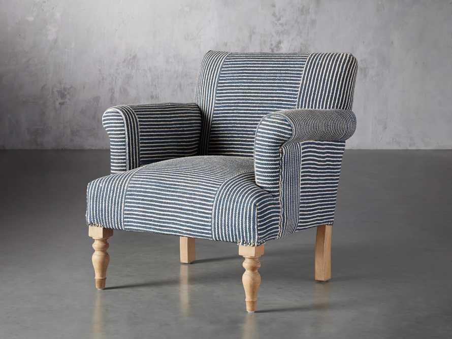 "Eliza Upholstered 28"" Chair in Eliza Coastal, slide 3 of 8"