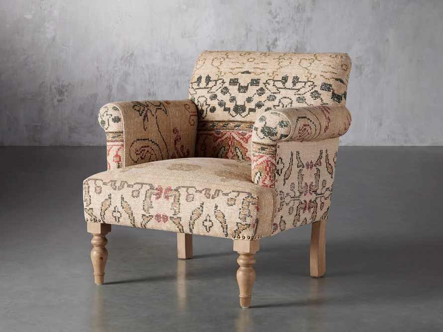 """Eliza Upholstered 28"""" Chair in Eliza Rose, slide 3 of 9"""
