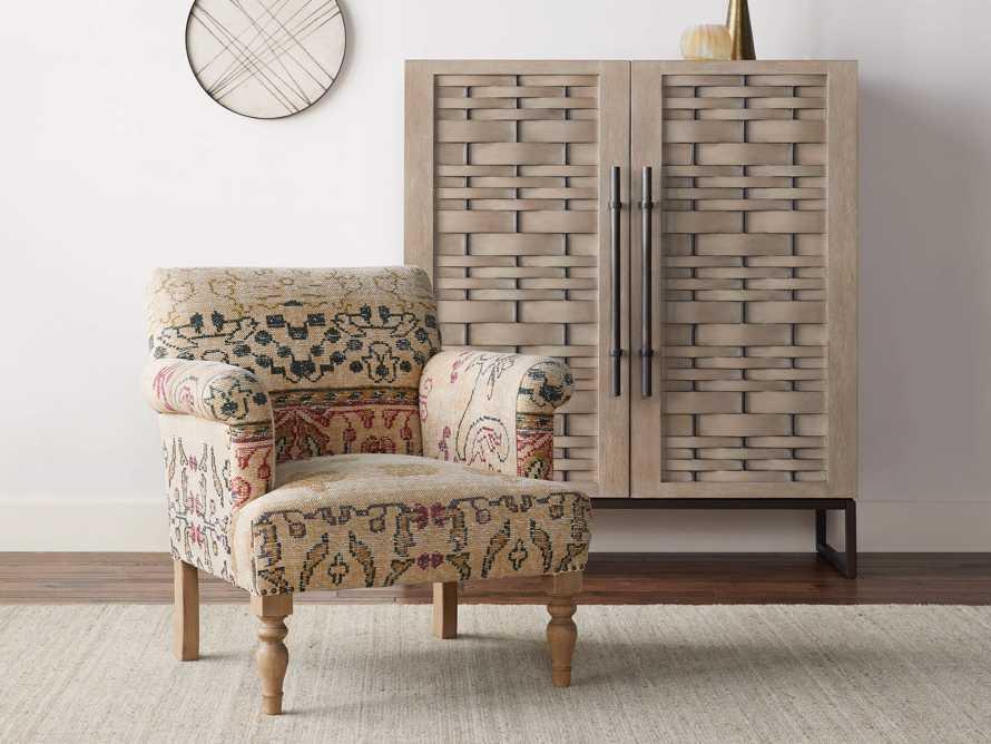 """Eliza Upholstered 28"""" Chair in Eliza Rose, slide 1 of 9"""