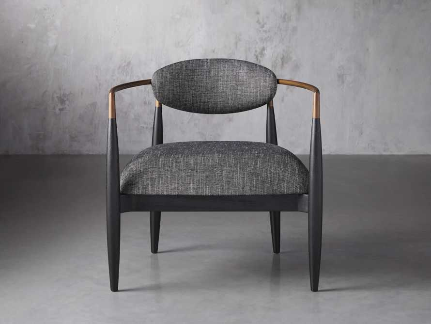 """Jagger Upholstered 28"""" Chair in Cary Black, slide 1 of 9"""