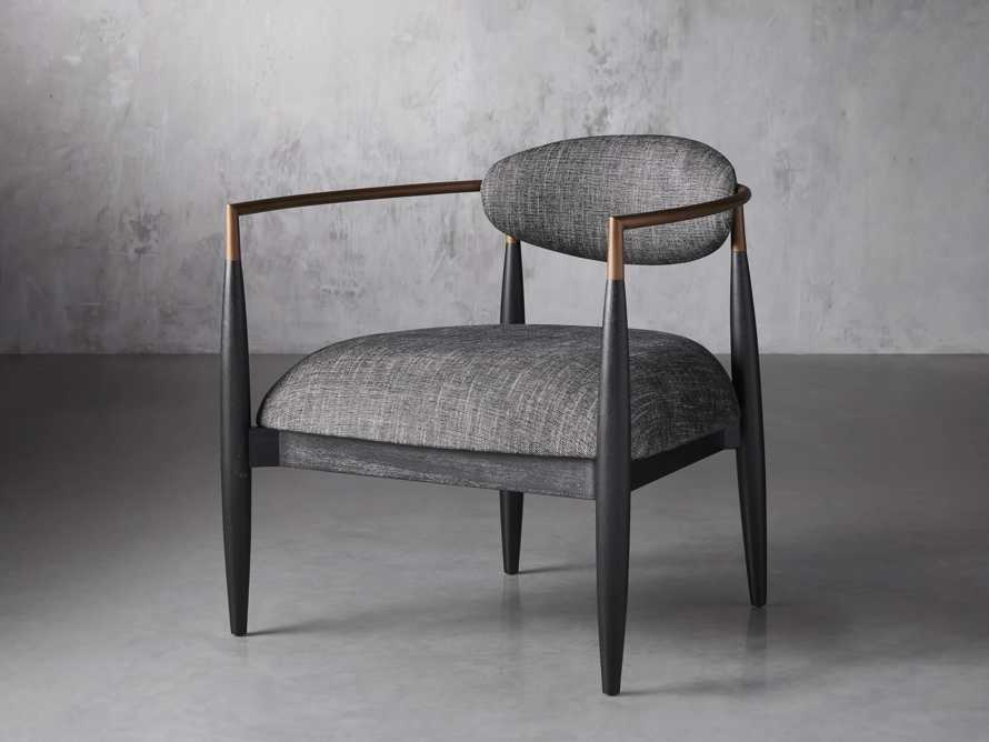 """Jagger Upholstered 28"""" Chair in Cary Black, slide 2 of 9"""