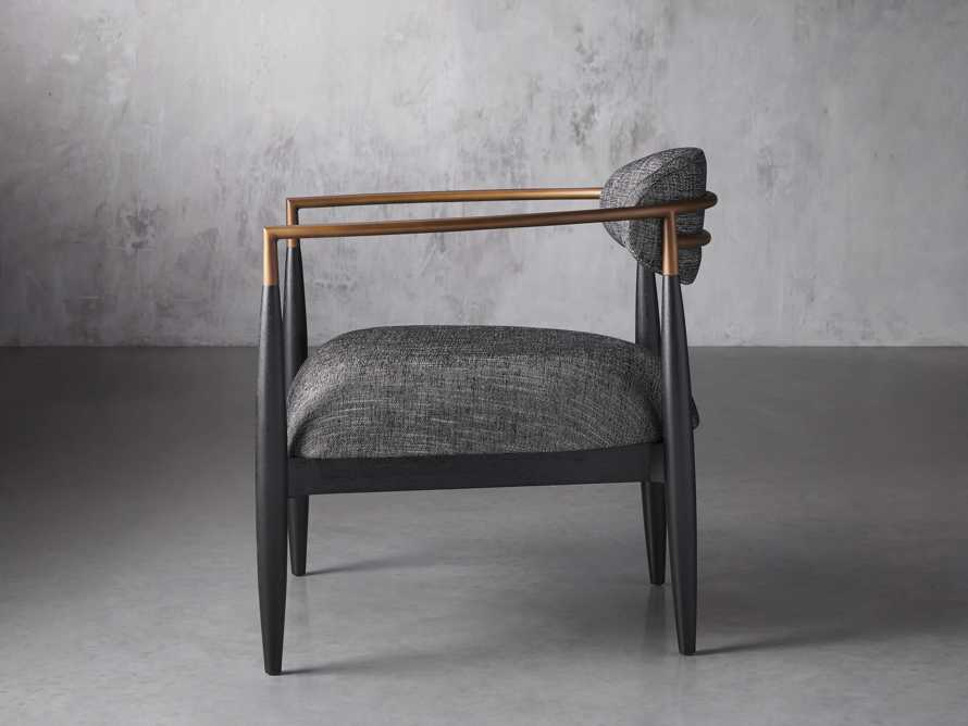 """Jagger Upholstered 28"""" Chair in Cary Black, slide 3 of 9"""