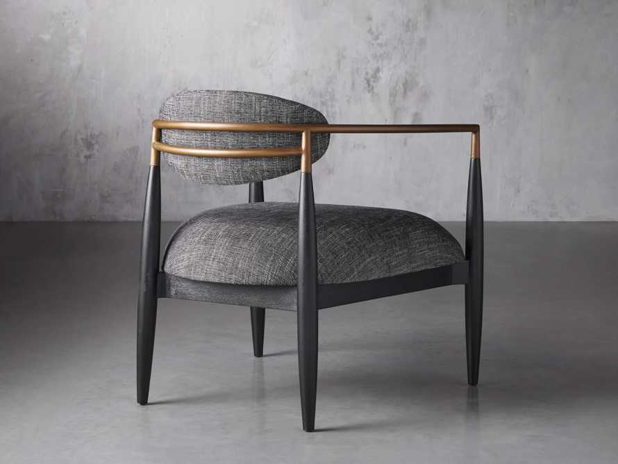 """Jagger Upholstered 28"""" Chair in Cary Black, slide 4 of 9"""
