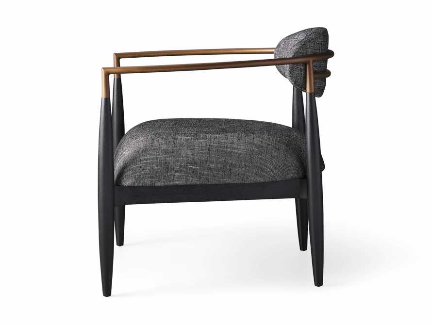 """Jagger Upholstered 28"""" Chair in Cary Black, slide 9 of 9"""
