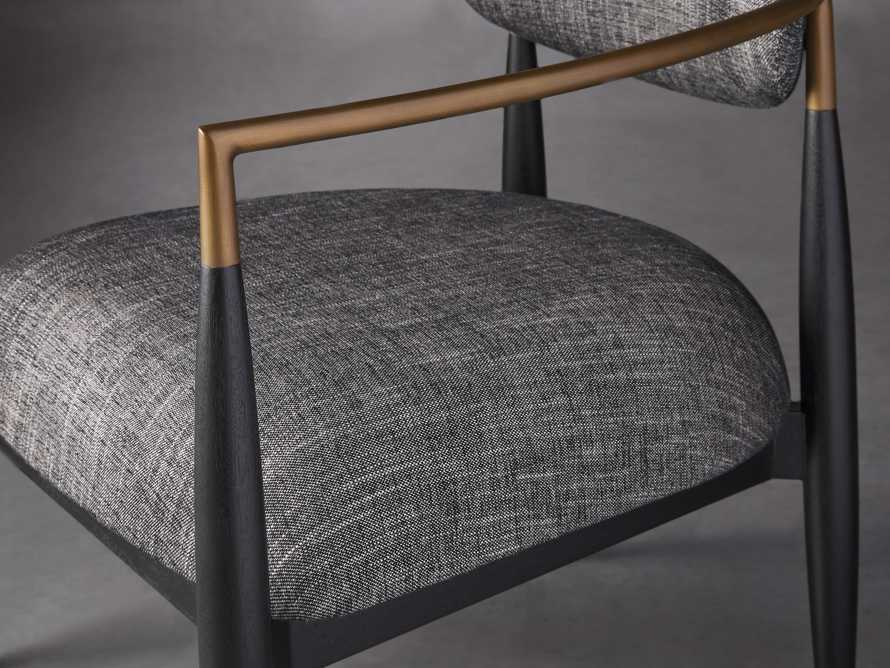 """Jagger Upholstered 28"""" Chair in Cary Black, slide 5 of 9"""