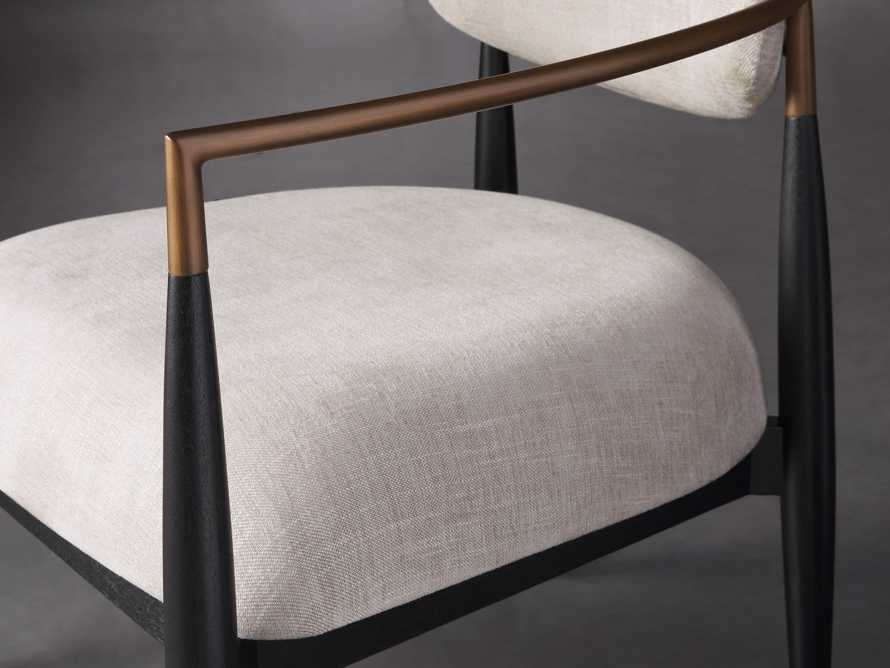 "Jagger Upholstered 28"" Chair in Cary Linen, slide 5 of 8"