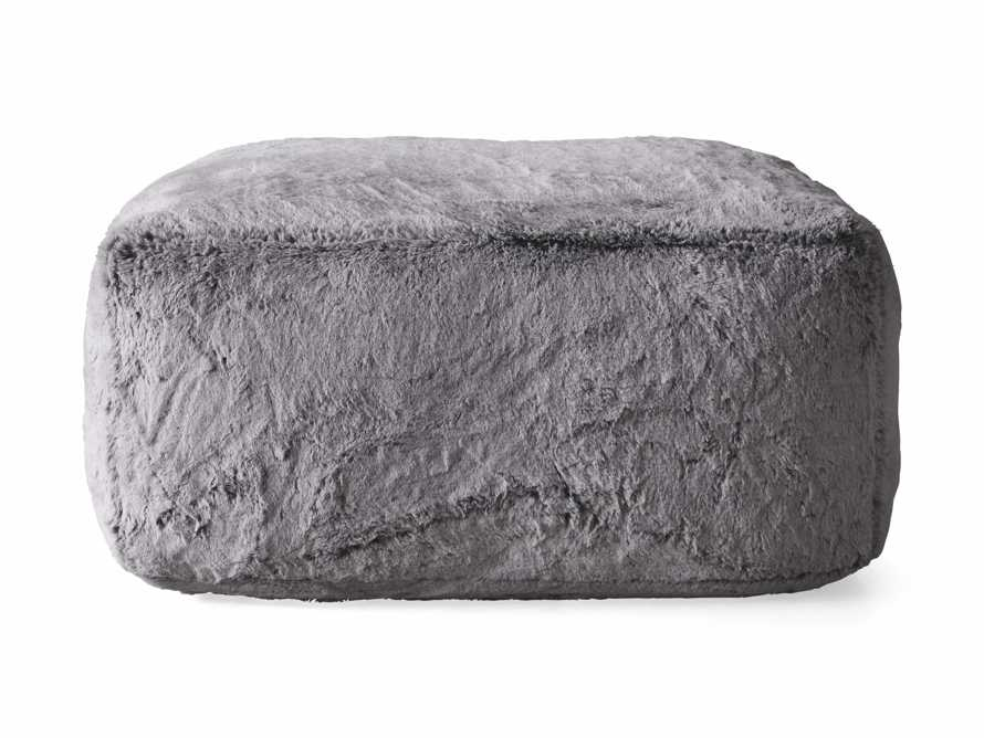 """Snugg Faux Fur 36"""" Ottoman in Grizzly Grey, slide 5 of 6"""