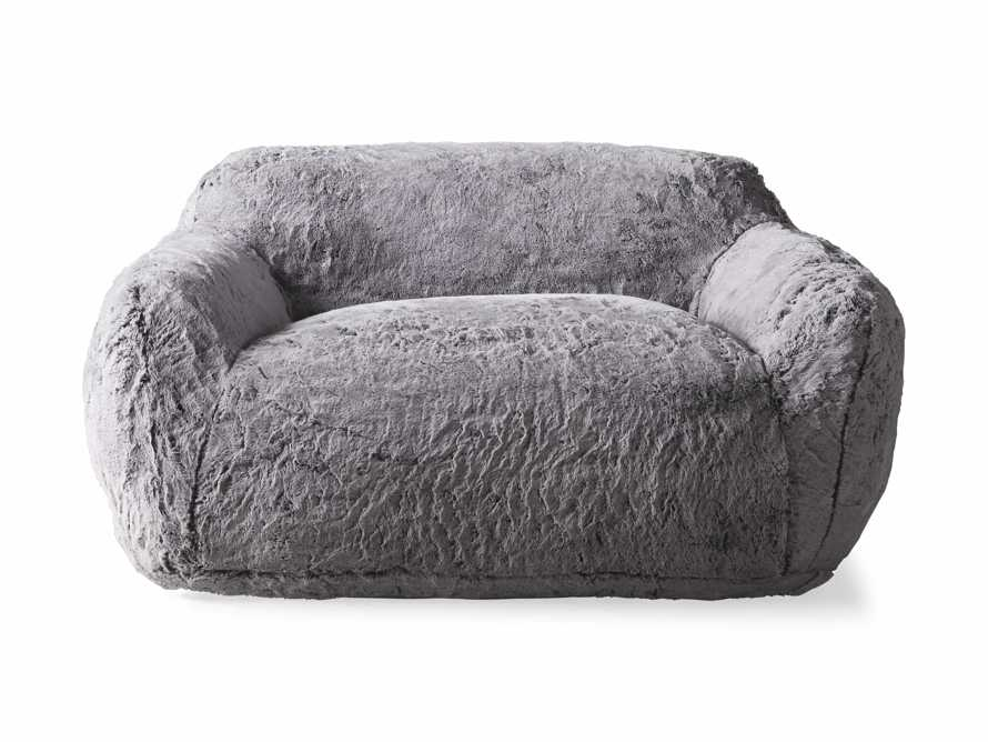 """Snugg Faux Fur 60"""" Loveseat in Grizzly Grey, slide 6 of 7"""