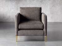 """Clarkson Upholstered 32"""" Chair in Cord Coal"""