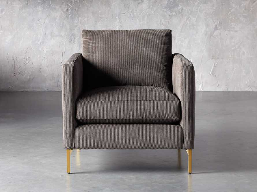 "Clarkson Upholstered 32"" Chair in Cord Coal, slide 2 of 9"