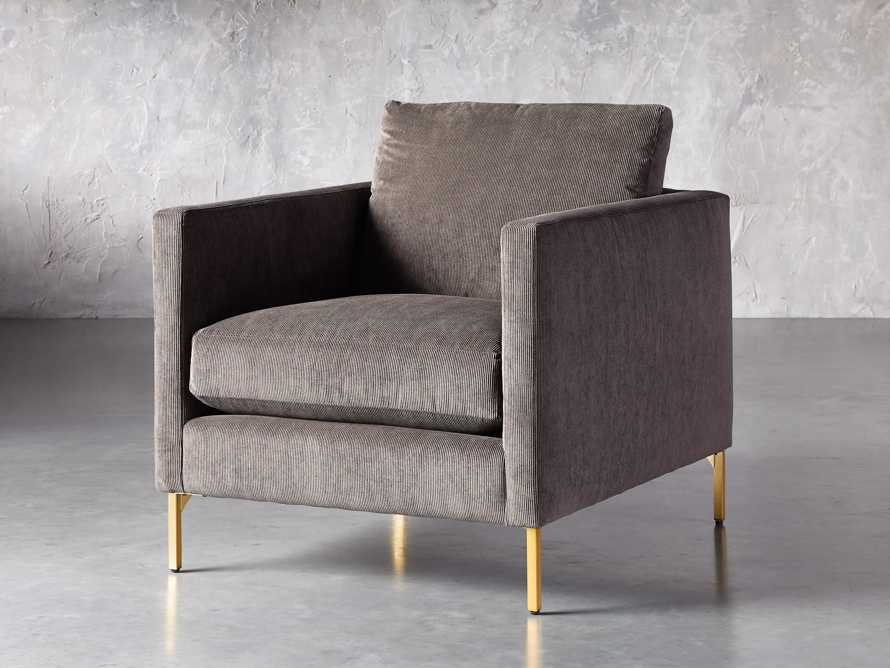"Clarkson Upholstered 32"" Chair in Cord Coal, slide 3 of 9"