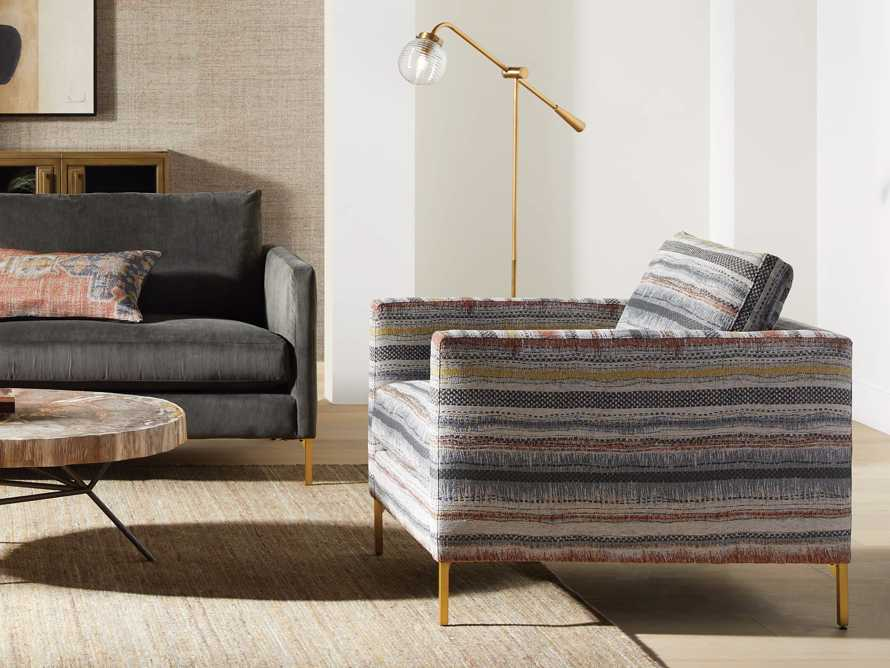 "Clarkson Upholstered 32"" Chair in Stirrup Multi, slide 7 of 9"