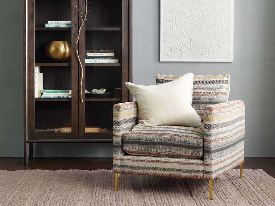 "Clarkson Upholstered 32"" Chair in Stirrup Multi, slide 1 of 10"