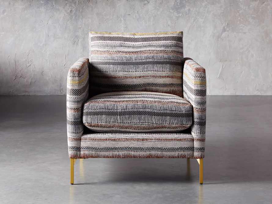 "Clarkson Upholstered 32"" Chair in Stirrup Multi, slide 2 of 10"