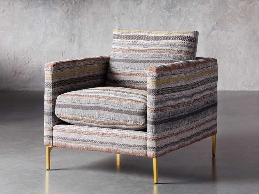 "Clarkson Upholstered 32"" Chair in Stirrup Multi, slide 3 of 10"