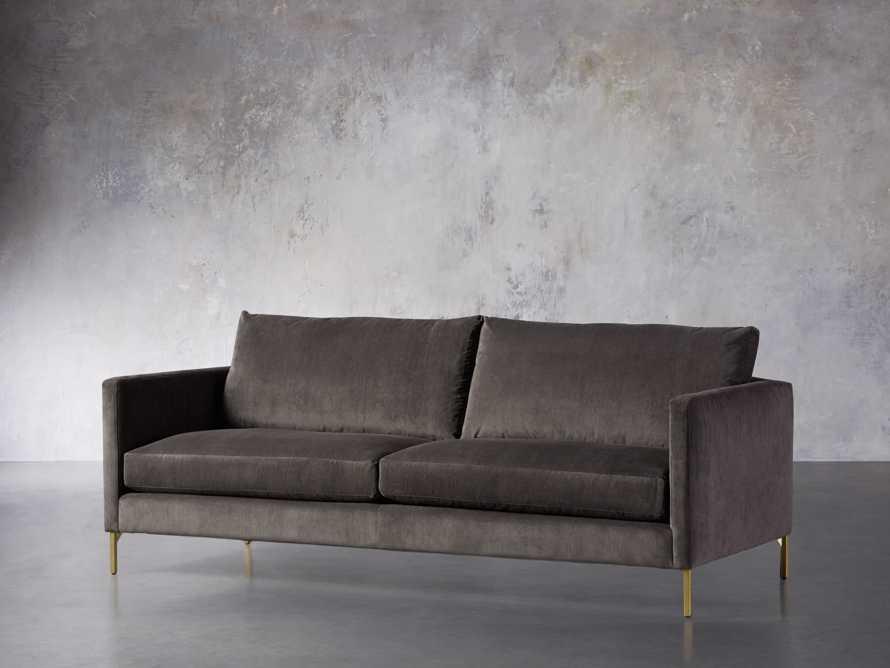 """Clarkson Brass Upholstered 86"""" Sofa, slide 3 of 10"""