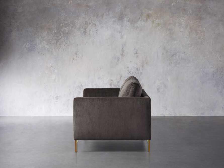 """Clarkson Brass Upholstered 86"""" Sofa, slide 4 of 10"""