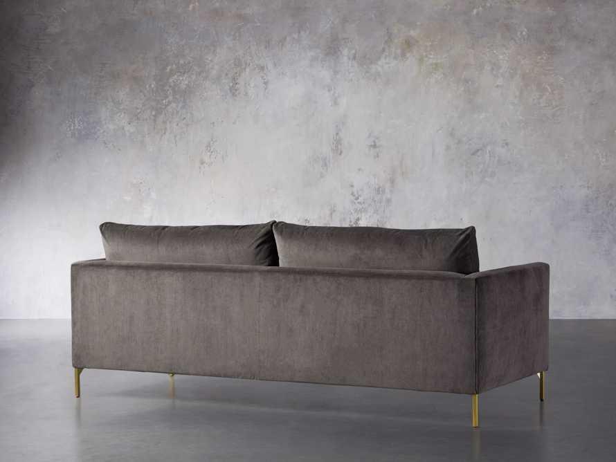 """Clarkson Brass Upholstered 86"""" Sofa, slide 5 of 10"""