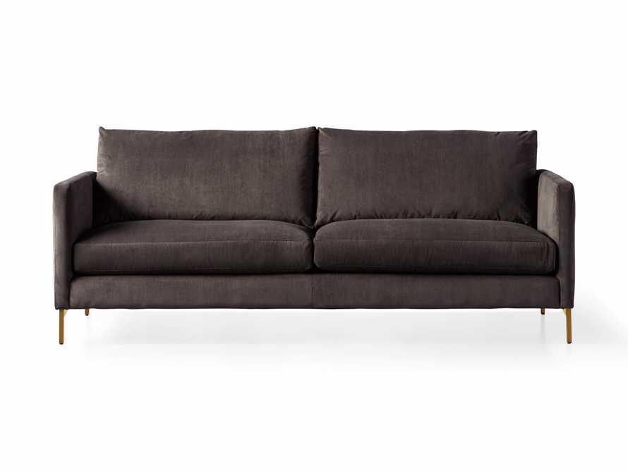 """Clarkson Brass Upholstered 86"""" Sofa, slide 9 of 10"""