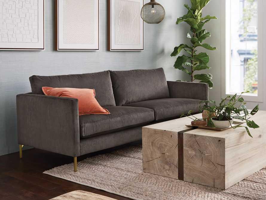 """Clarkson Brass Upholstered 86"""" Sofa, slide 8 of 10"""