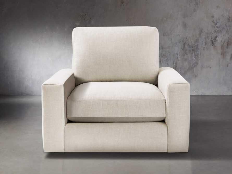 """Remington Upholstered 43"""" Petite Swivel Chair, slide 1 of 5"""
