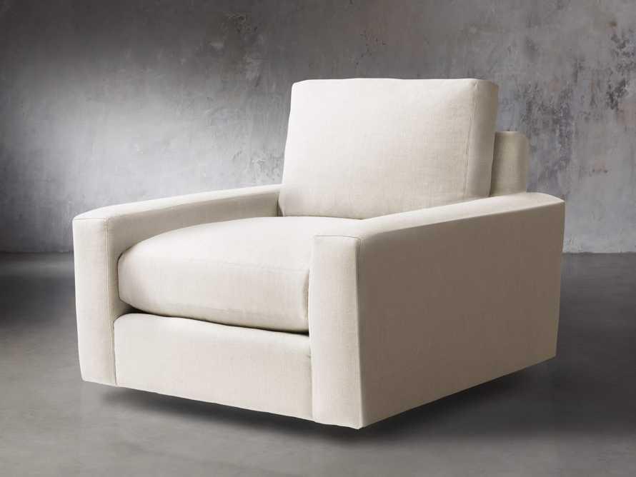 """Remington Upholstered 43"""" Petite Swivel Chair, slide 2 of 5"""