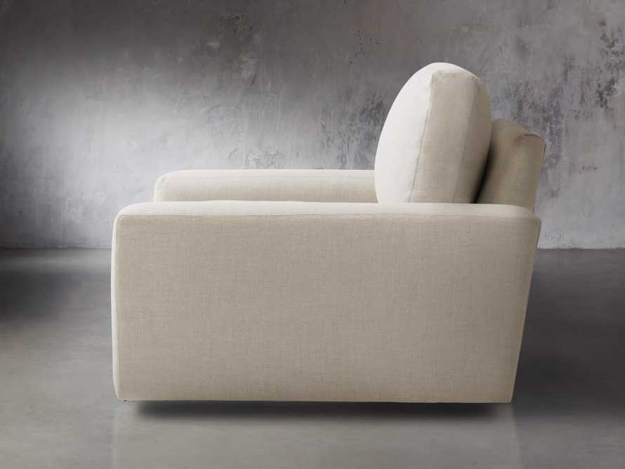 """Remington Upholstered 43"""" Petite Swivel Chair, slide 3 of 5"""