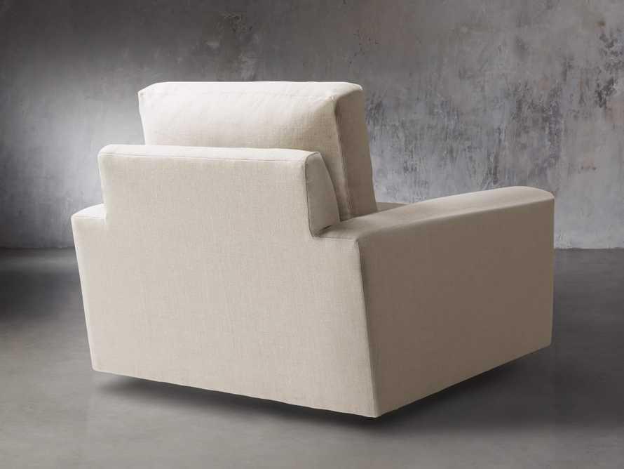 """Remington Upholstered 43"""" Petite Swivel Chair, slide 4 of 5"""