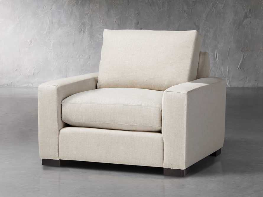 "Remington Upholstered 43"" Petite Chair, slide 2 of 5"